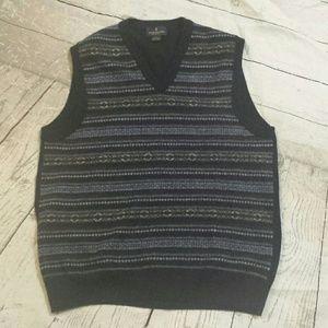 Brooks Brothers Merino Wool V-Neck Sweater Vest L